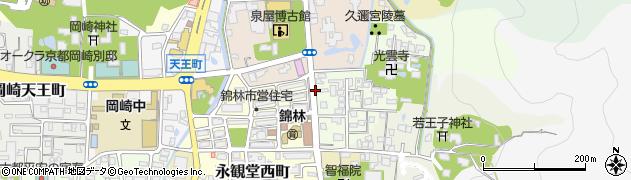 京都府京都市左京区南禅寺北ノ坊町周辺の地図