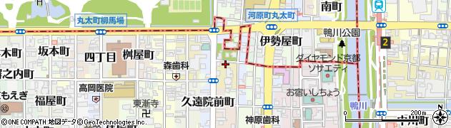 京都府京都市中京区行願寺門前町周辺の地図