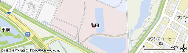 静岡県静岡市葵区牛田周辺の地図