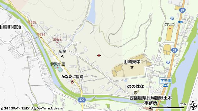 〒671-2517 兵庫県宍粟市山崎町生谷の地図