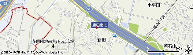 愛知県豊田市花園町(新田)周辺の地図
