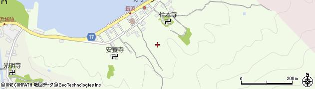静岡県沼津市内浦長浜周辺の地図