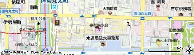 京都府京都市左京区東竹屋町周辺の地図