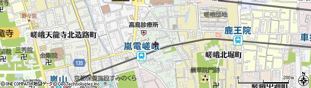 京都府京都市右京区嵯峨天龍寺今堀町周辺の地図
