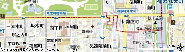 京都府京都市中京区毘沙門町周辺の地図