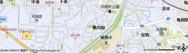 京都府亀岡市余部町(前川原)周辺の地図