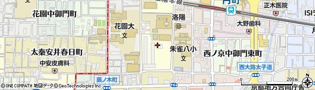 京都府京都市中京区西ノ京春日町周辺の地図