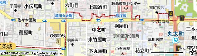 京都府京都市中京区中之町周辺の地図