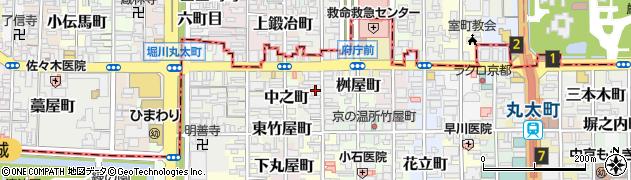 京都府京都市中京区田中町周辺の地図