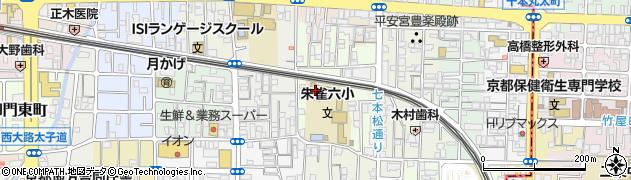 京都府京都市中京区西ノ京車坂町周辺の地図