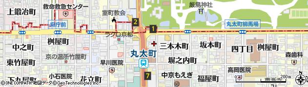 京都府京都市中京区砂金町周辺の地図