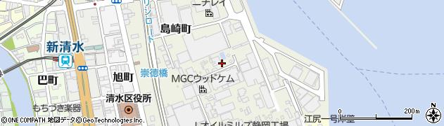 静岡県静岡市清水区島崎町周辺の地図