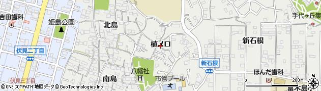 愛知県東海市富木島町(植ノ口)周辺の地図