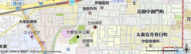 竹林寺周辺の地図