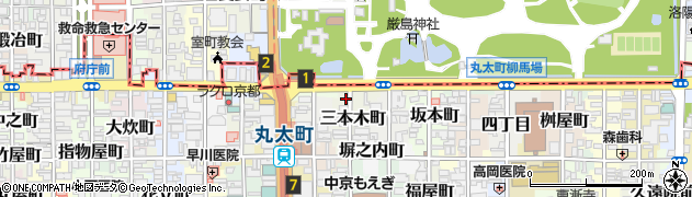 京都府京都市中京区三本木町周辺の地図