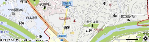 愛知県知立市逢妻町(西栄)周辺の地図