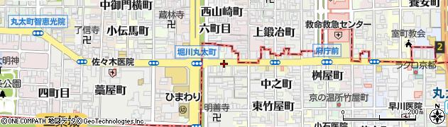 京都府京都市中京区丸太町周辺の地図