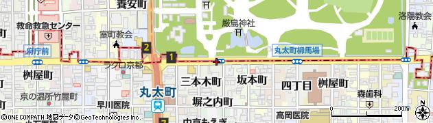 京都府京都市中京区関東屋町周辺の地図