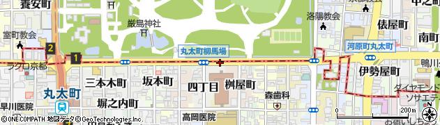 京都府京都市中京区桑原町周辺の地図