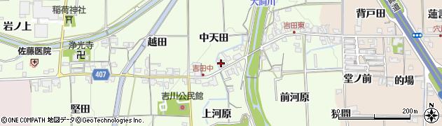 京都府亀岡市吉川町吉田(中天田)周辺の地図