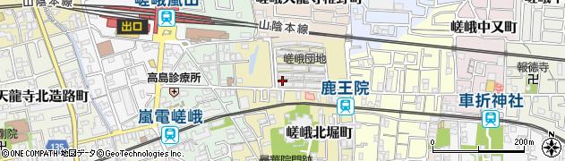 京都府京都市右京区嵯峨北堀町周辺の地図