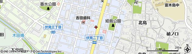 愛知県東海市富木島町伏見周辺の地図