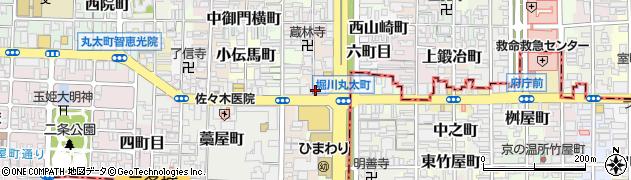 京都府京都市上京区西丸太町周辺の地図