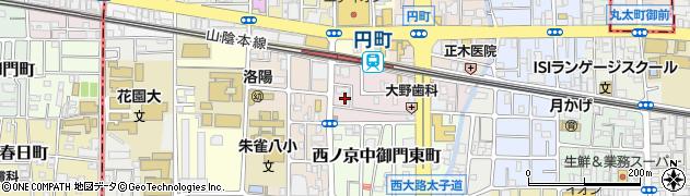 京都府京都市中京区西ノ京南円町周辺の地図