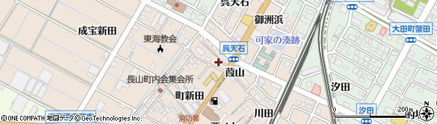 愛知県東海市高横須賀町(葭山)周辺の地図