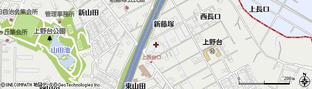 愛知県東海市富木島町(新藤塚)周辺の地図