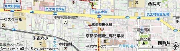 京都府京都市中京区聚楽廻東町周辺の地図