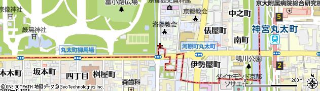京都府京都市上京区信富町周辺の地図