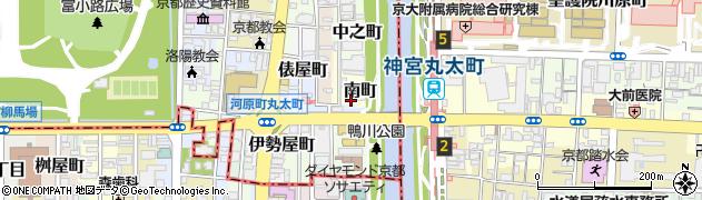 京都府京都市上京区南町周辺の地図