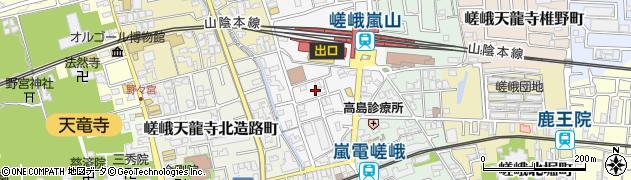 京都府京都市右京区嵯峨天龍寺車道町周辺の地図