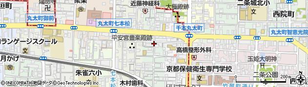 京都府京都市中京区聚楽廻中町周辺の地図