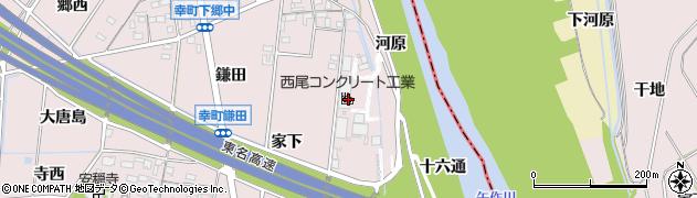 愛知県豊田市幸町(家下)周辺の地図