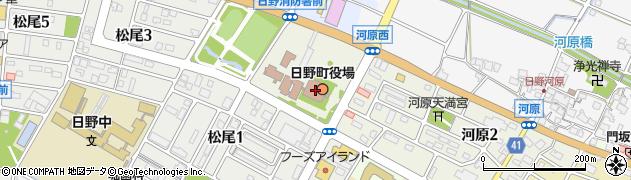 滋賀県蒲生郡日野町周辺の地図