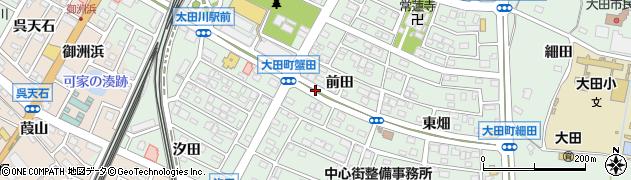 愛知県東海市大田町周辺の地図