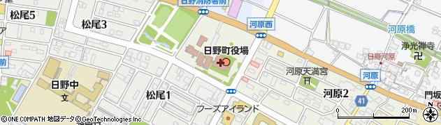 滋賀県日野町(蒲生郡)周辺の地図