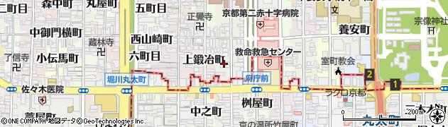 京都府京都市上京区夷川町周辺の地図