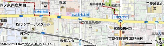 京都府京都市中京区聚楽廻西町周辺の地図