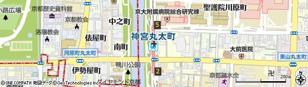 京都府京都市左京区周辺の地図