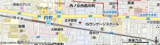 京都府京都市中京区西ノ京上平町周辺の地図