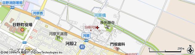 滋賀県日野町(蒲生郡)河原周辺の地図