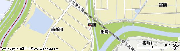 愛知県刈谷市泉田町(東割)周辺の地図