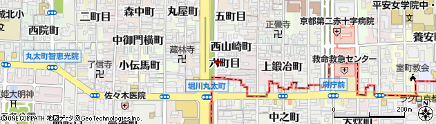 京都府京都市上京区六町目周辺の地図