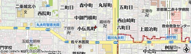 京都府京都市上京区木屋之町周辺の地図