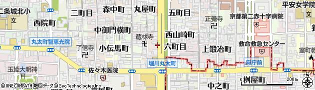 京都府京都市上京区上堀川町周辺の地図