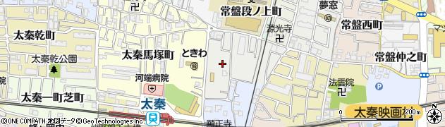 京都府京都市右京区太秦青木ケ原町周辺の地図