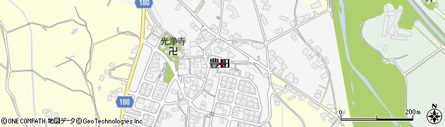 滋賀県日野町(蒲生郡)豊田周辺の地図